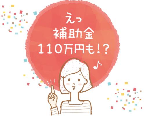 えっ補助金110万円も!?